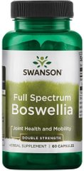 Swanson, Босвеллия, Full Spectrum Boswellia, 800 мг, 60 капсул