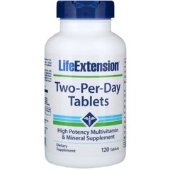 Мультивитамины Life Extension, Two-Per-Day Tablets, 120 Tablets