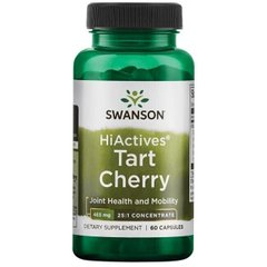 Swanson, Экстракт вишни, Hiactives Tart Cherry, 465 мг, 60 капсул