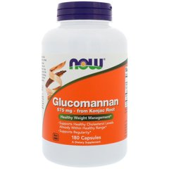 Глюкоманнан, Glucomannan, Now Foods 575 мг, 180 капсул