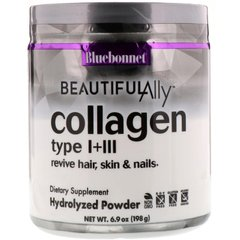 Bluebonnet Nutrition, Коллаген 1 и 3 типа, Beautiful Ally, Collagen Type I + III, порошок 198 г