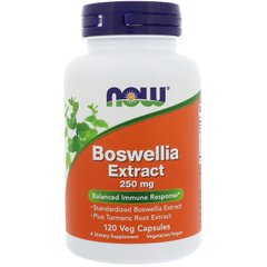 Босвелия (Boswellia Extract), Now Foods, 250 мг, 120 капсул