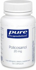 Поликозанол, Policosanol, Pure Encapsulations, 20 мг, 120 капсул