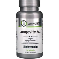 Формула долголетия, Geroprotect Longevity A.I., Life Extension, 30 капсул