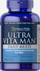 Витамины для мужчин, Ultra Vita Man Time Release, Puritan's Pride, 90 капсул