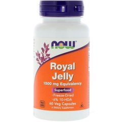 Now Foods, Маточное молочко, Royal Jelly, 1500 мг, 60 гелевых капсул
