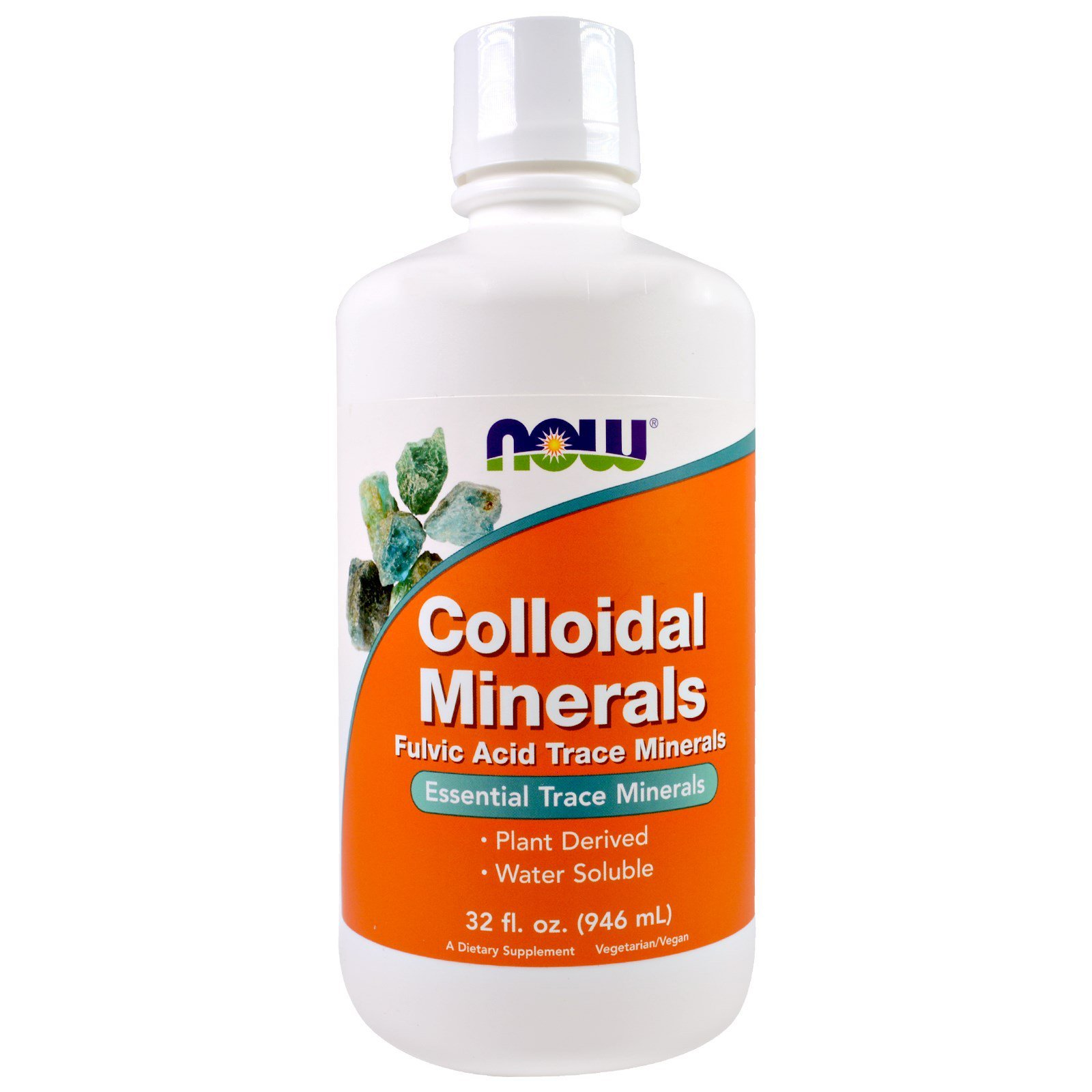Колоїдні мінерали, Colloidal Minerals, Now Foods, 946 мл