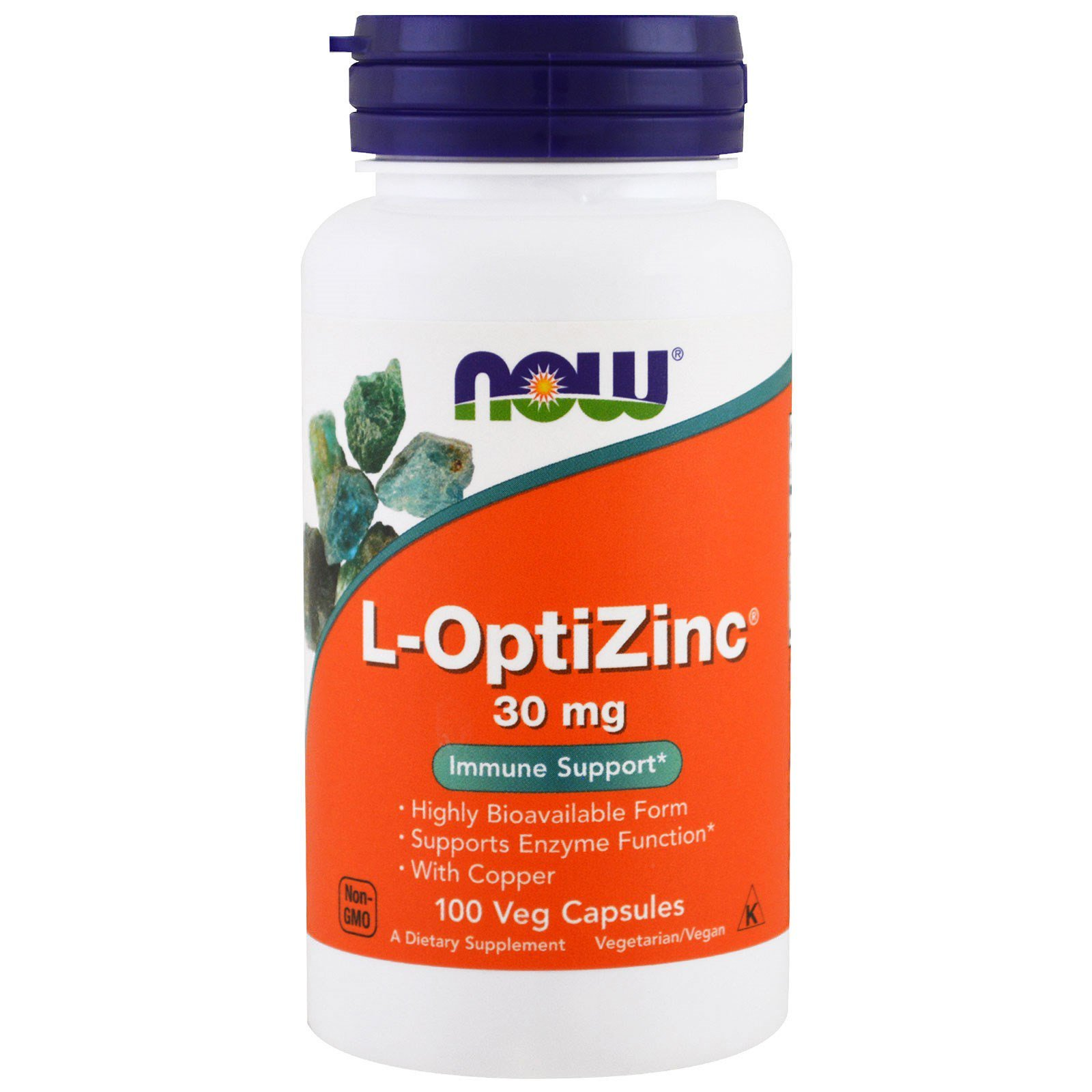 ОптіЦінк, L-OptiZinc, Now Foods, 30 мг, 100 капсул