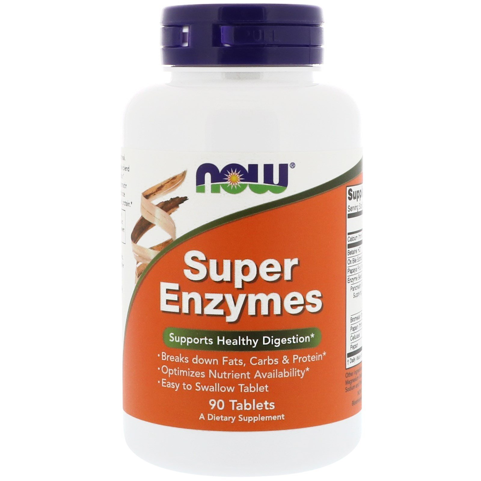 Ензими, Super Enzymes, Now Foods, 90 таблеток