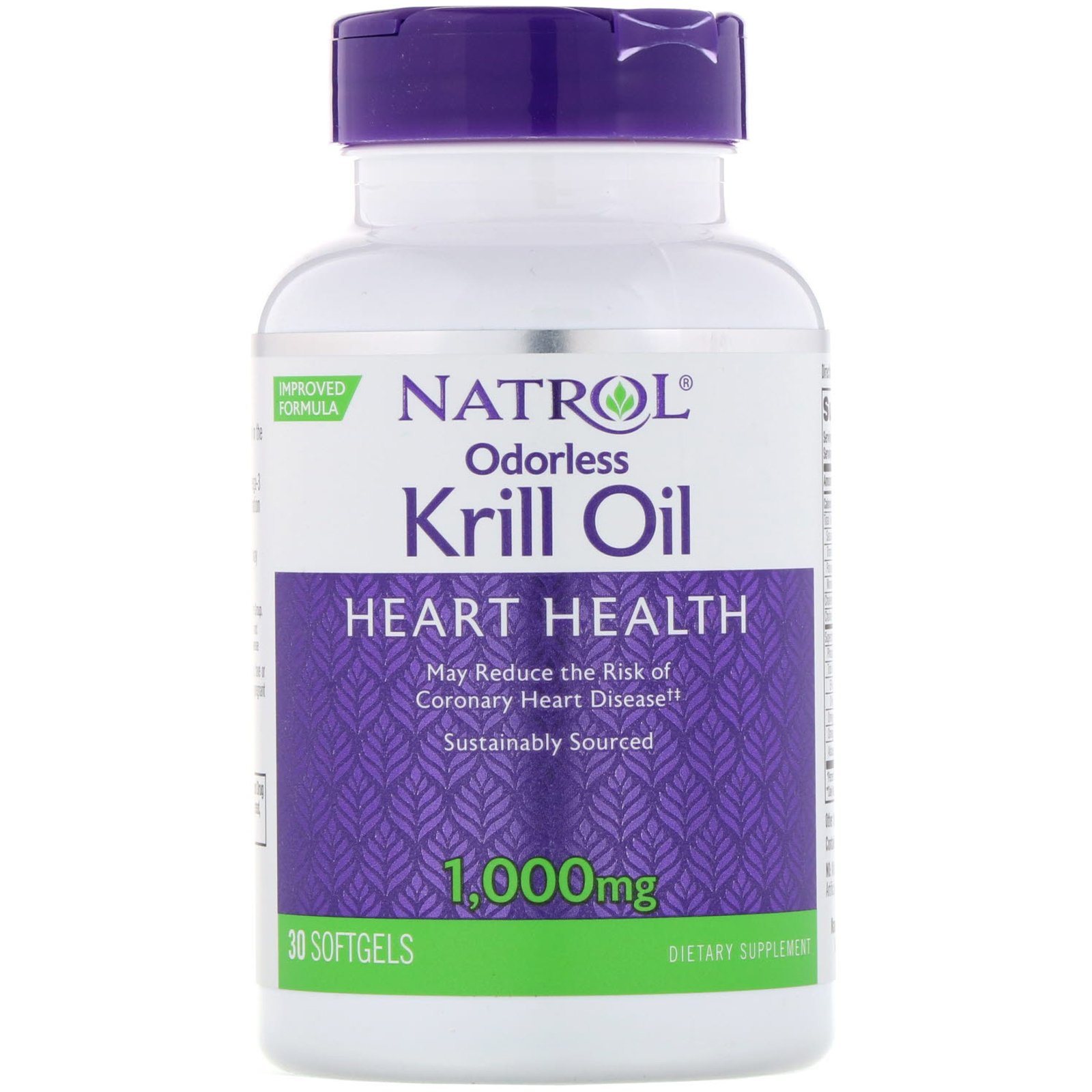 Масло криля, Odorless Krill Oil, Natrol, 1000 мг, 30 гелевиех капсул
