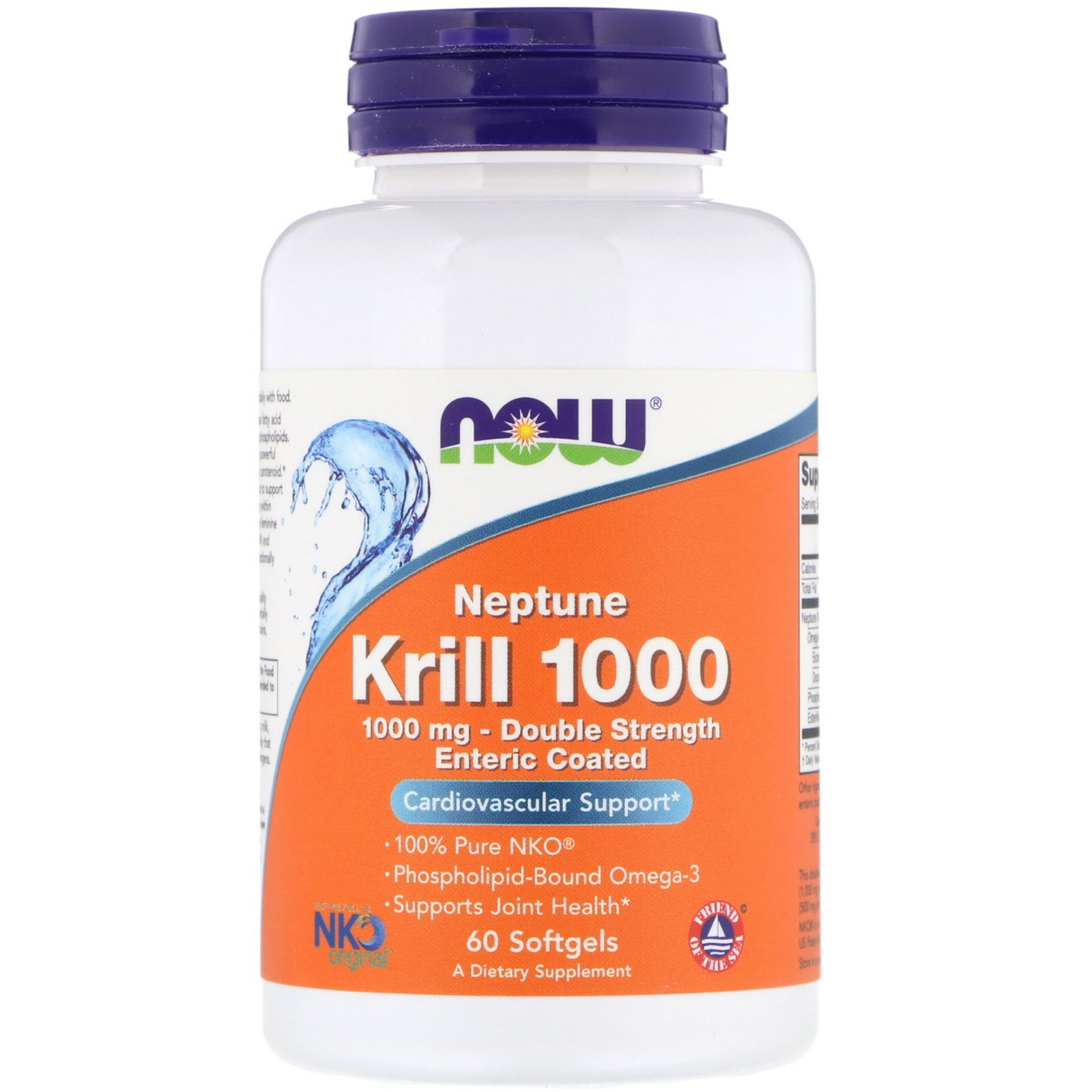Масло криля, Krill, Now Foods, 1000 мг, 60 капсул