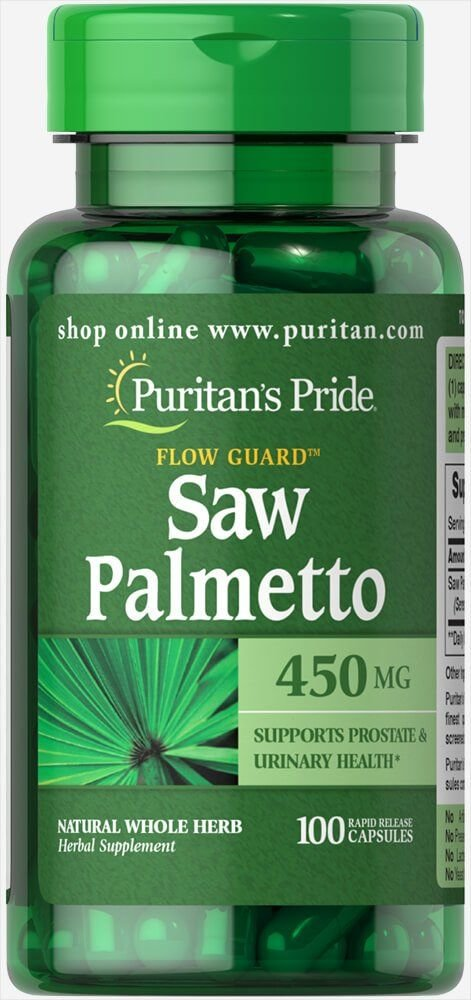 Со пальметто, Saw Palmetto, Puritan's Pride, 450 мг, 100 капсул