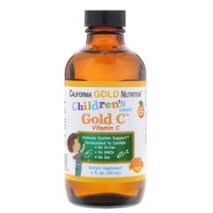 Вітамін C для дітей, Children's Vitamin C, California Gold Nutrition, рідкий, 118 мл