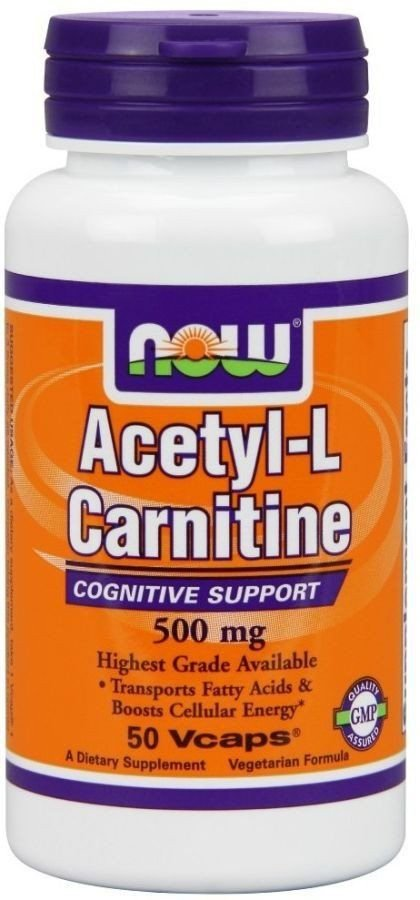 Ацетил Л карнітин, Acetyl-L Carnitine, Now Foods, 500 мг, 50 капсул