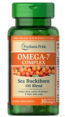 Омега-7 з обліпихової олії, Omega-7 Complex Sea Buckthorn Oil Blend, Puritan's Pride, 30 капсул