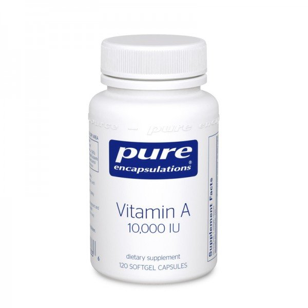 Vitamin A, Pure Encapsulations, 10,000 МО, 120 капсул