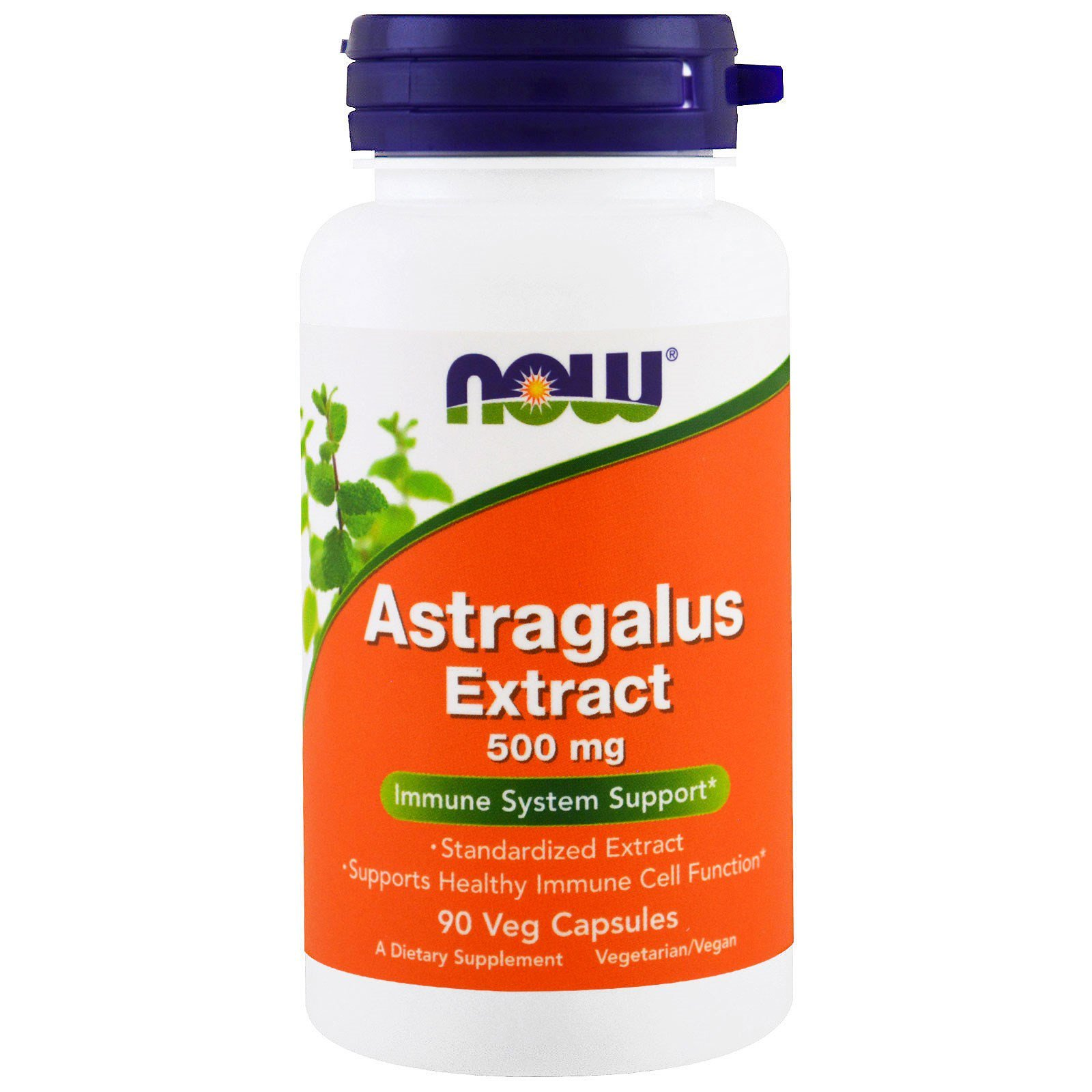 Екстракт Астрагала, Astragalus, Now Foods, 500 мг, 90 капсул