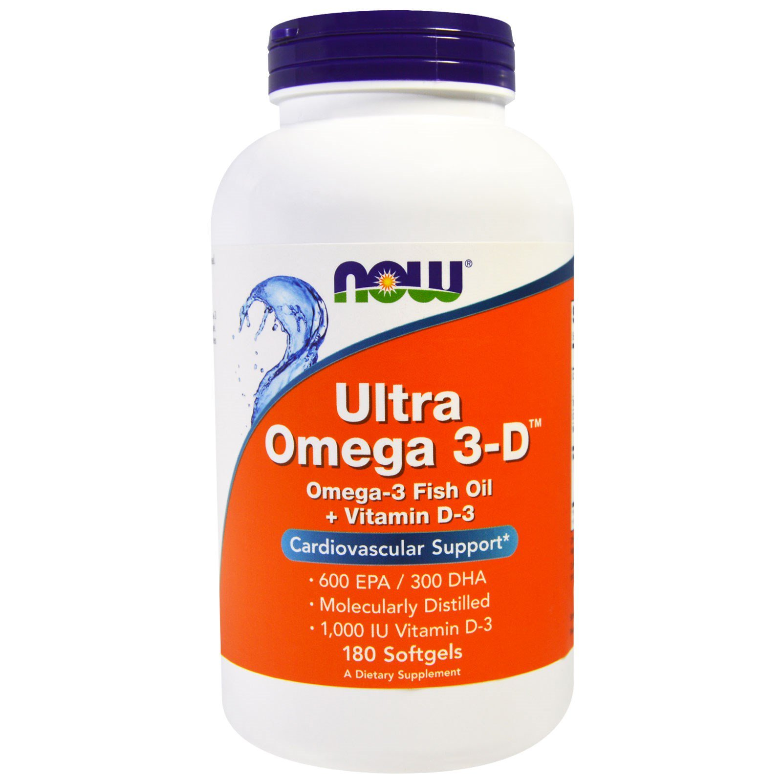 Омега 3 - Д ультра, Omega 3-D, Now Foods, 180 гелевих капсул