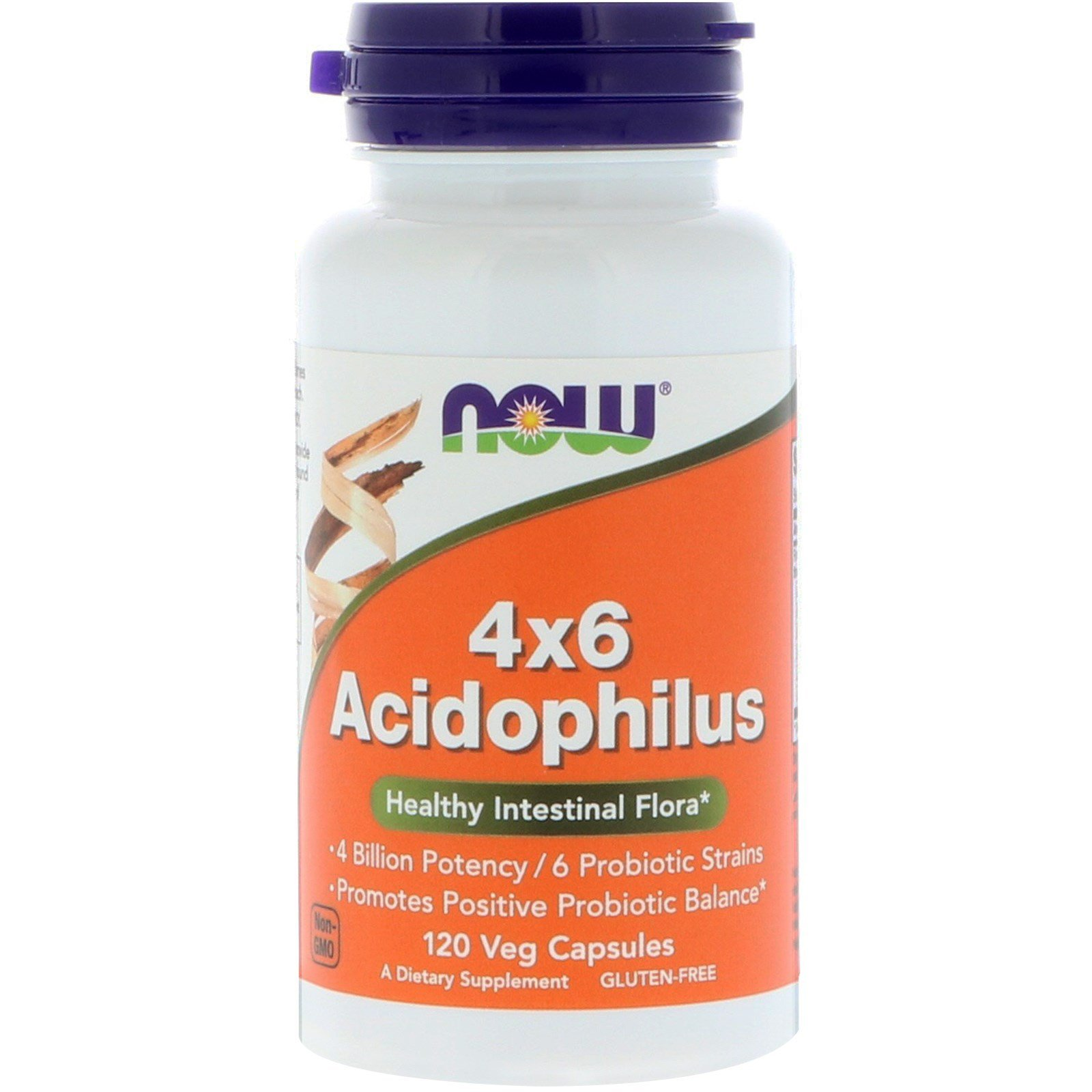 Пробіотики, 4x6 Acidophilus, Now Foods, 120 капсул