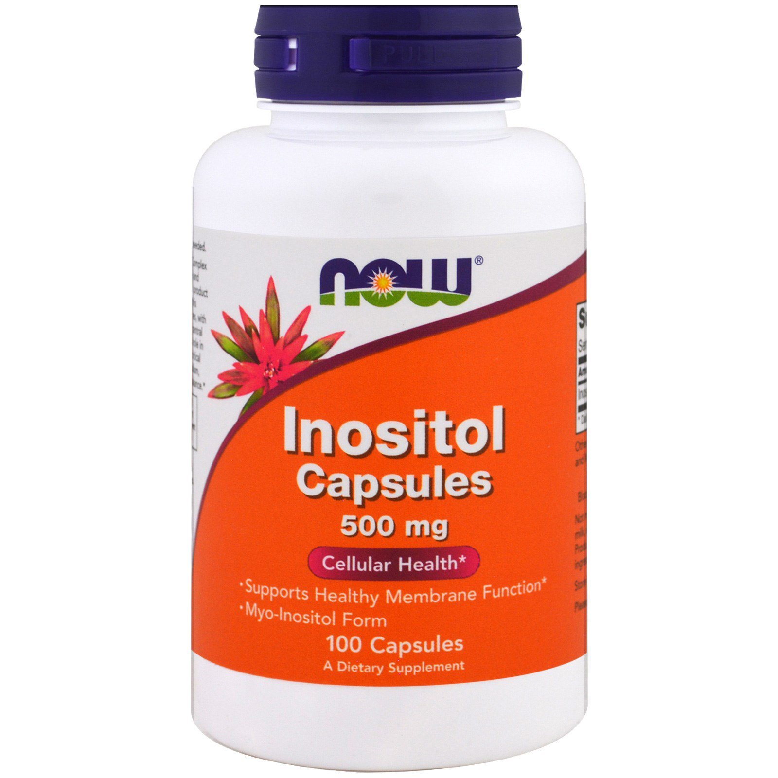 Инозитол, Inositol, Now Foods, 500 мг, 100 капсул