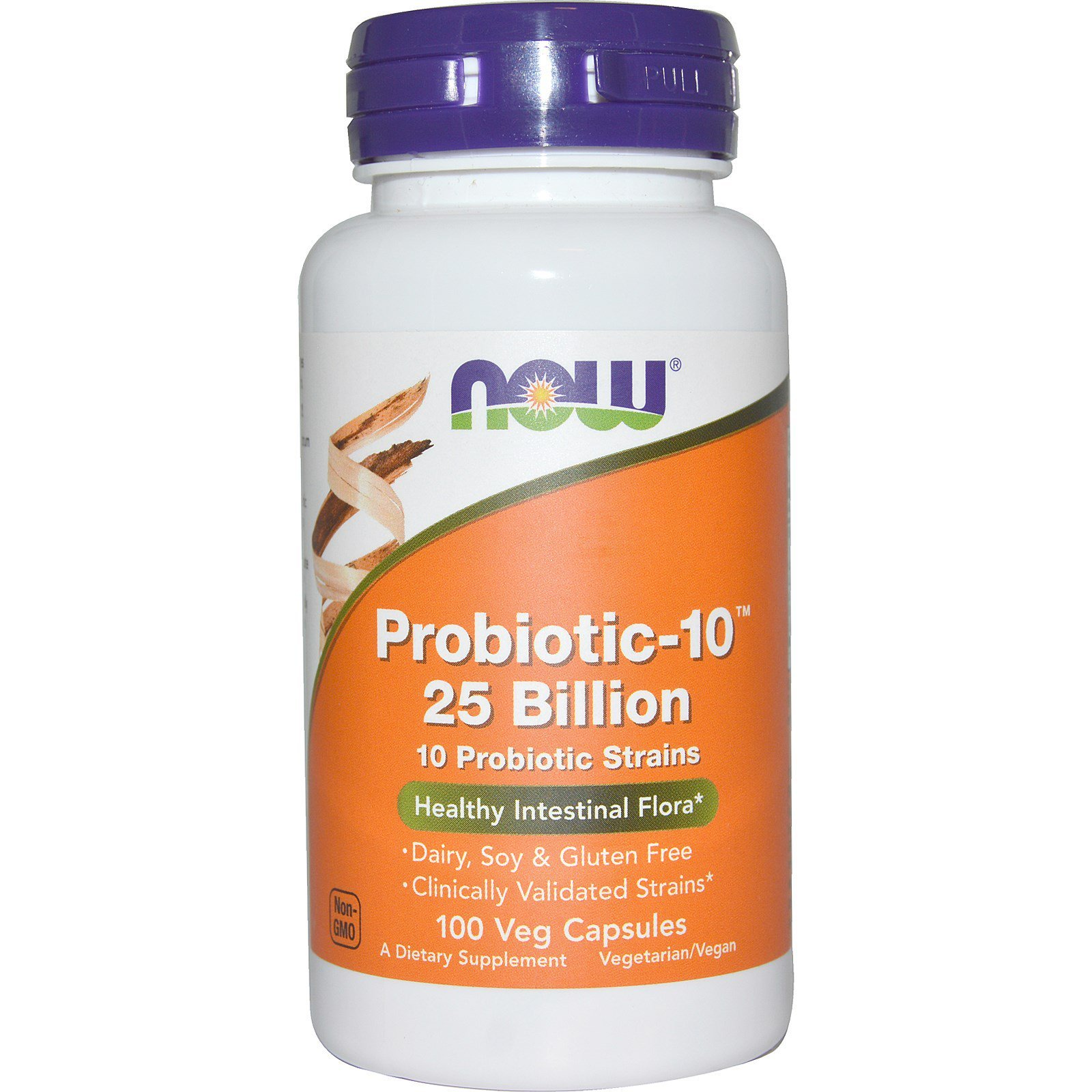Пробиотик-10, Probiotic, Now Foods, 25 млрд КОЕ, 100 капсул