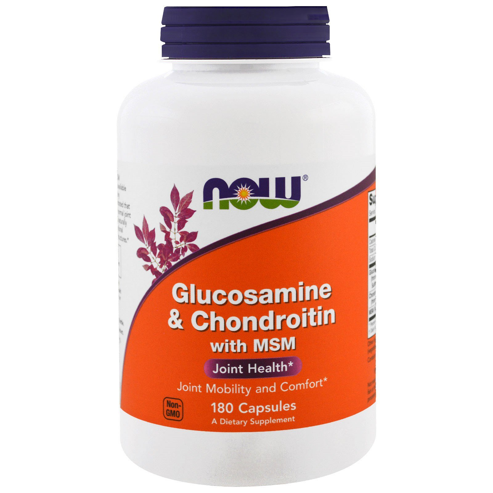 Глюкозамін і хондроїтин з MСM, Glucosamine & Chondroitin with MSM, Now Foods, 180 капсул