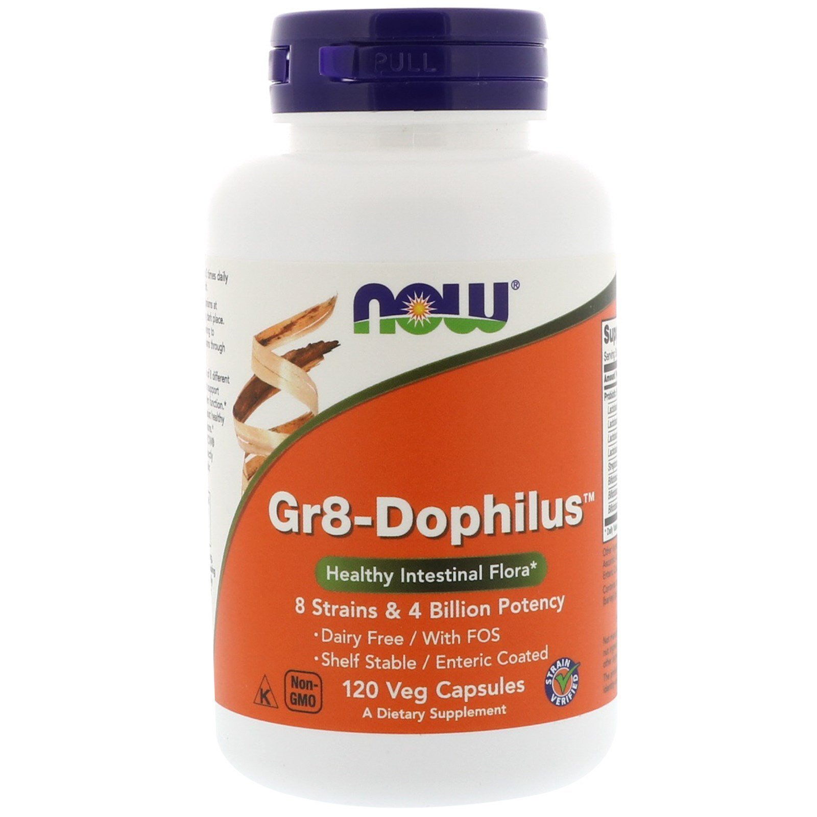 Пробіотики, Gr8-Dophilus, Now Foods, 8 млрд КУО, 120 капсул