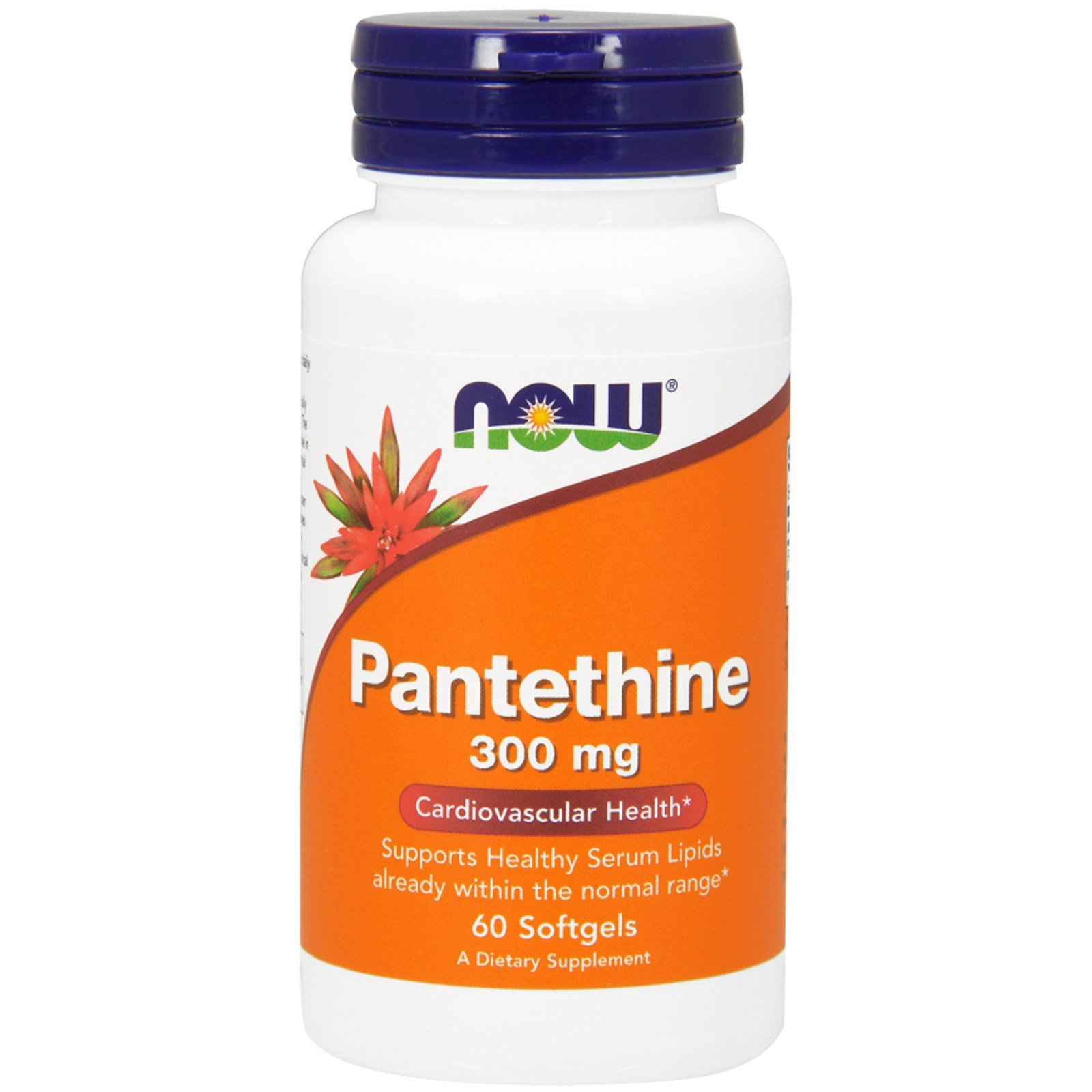 Пантетин, Pantethine, Now Foods, 300 мг, 60 капсул