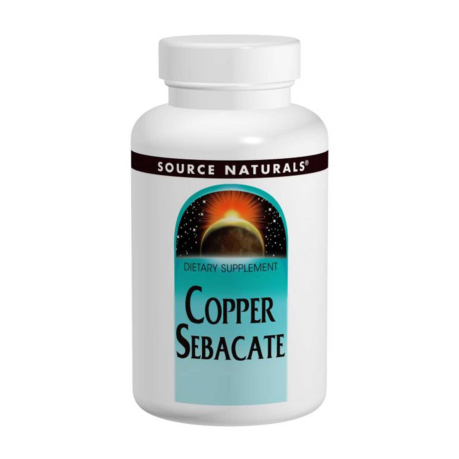 Мідь (Copper Sebacate), Source Naturals, 22мг, 120 таблеток