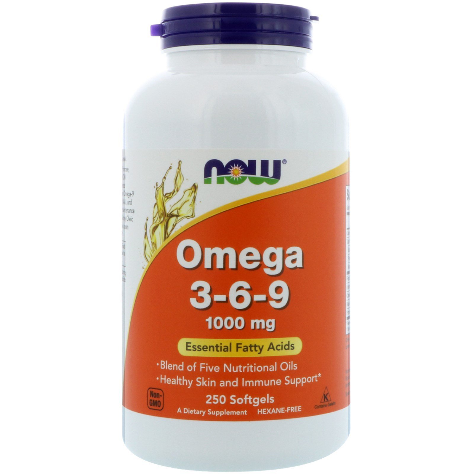 Омега 3 6 9, Omega 3-6-9, Now Foods, 1000 мг, 250 гелевих капсул