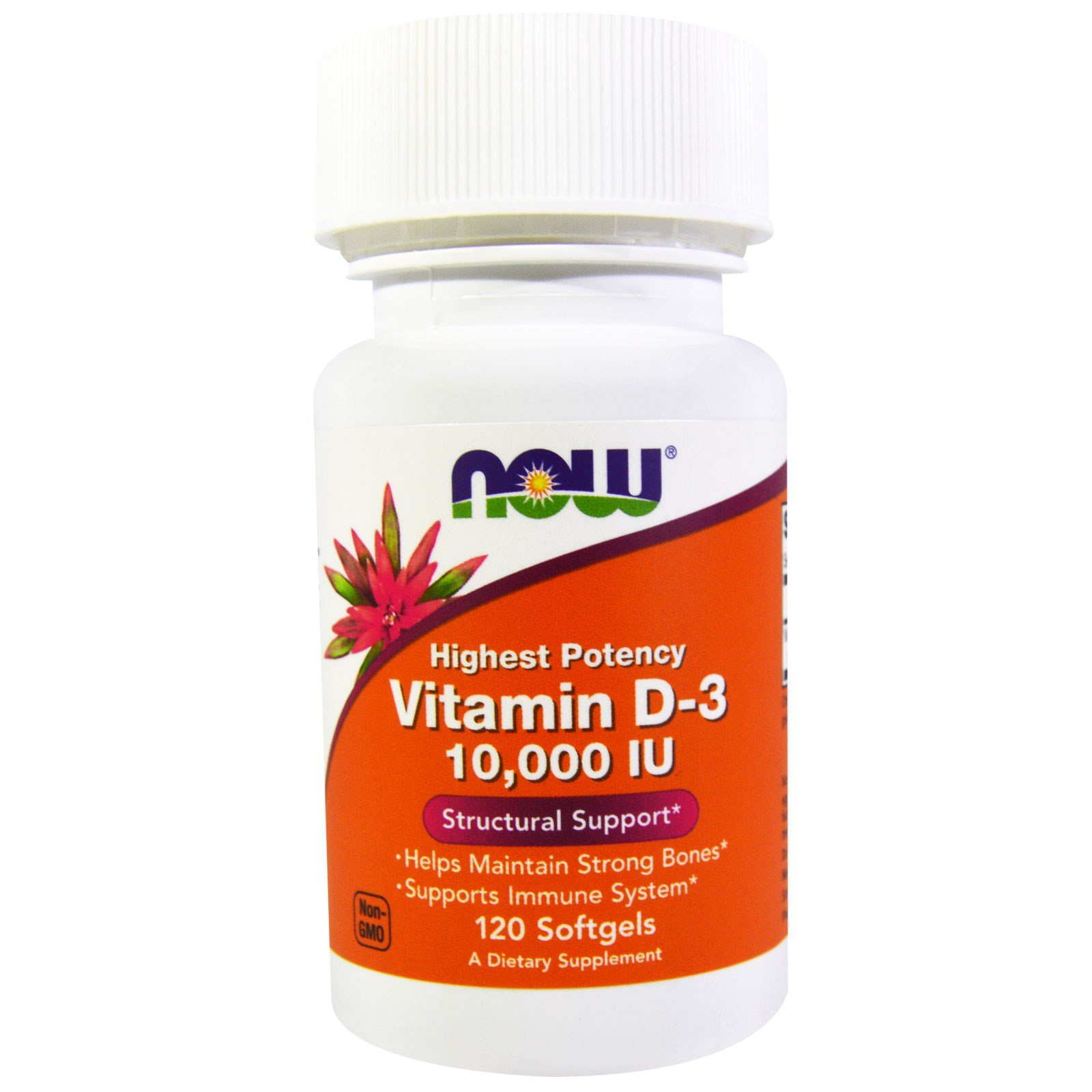 Витамин Д3, Vitamin D-3, Now Foods, 10 000 МЕ, 120 капсул