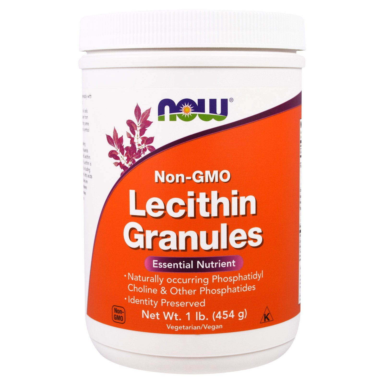 Лецитин в гранулах, Lecithin, Now Foods, без ГМО, 454 г