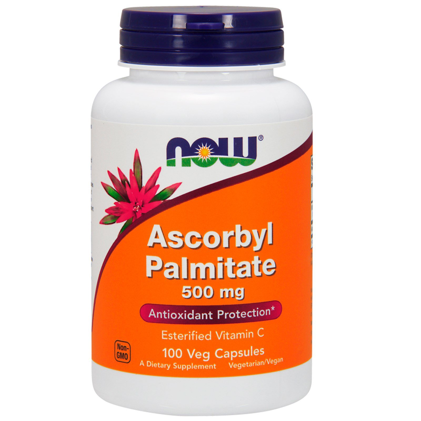 Аскорбілпальмітат, Ascorbyl Palmitate, Now Foods, 500 мг, 100 капсул