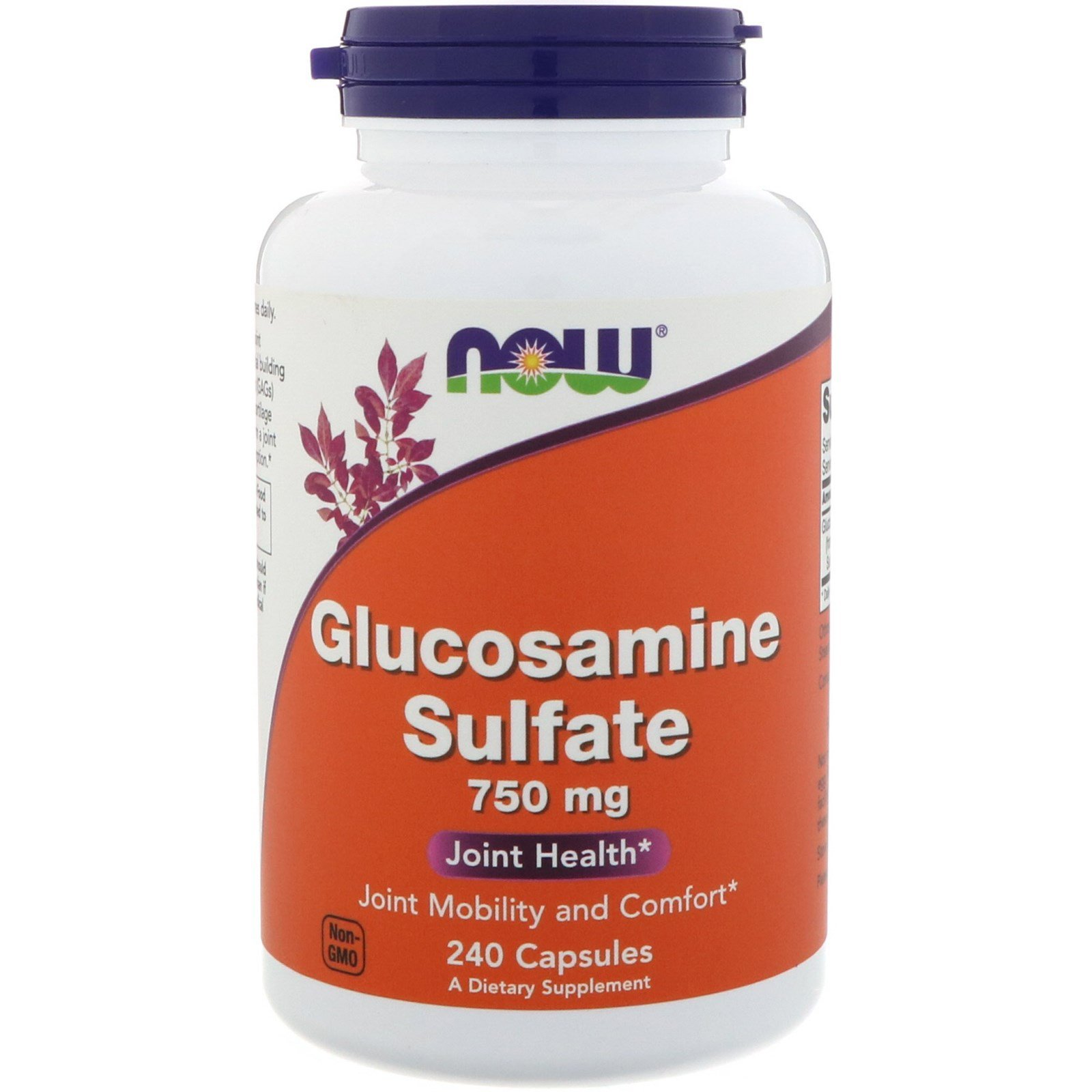Глюкозамін сульфат, Glucosamine Sulfate, Now Foods, 750 мг, 240 капсул