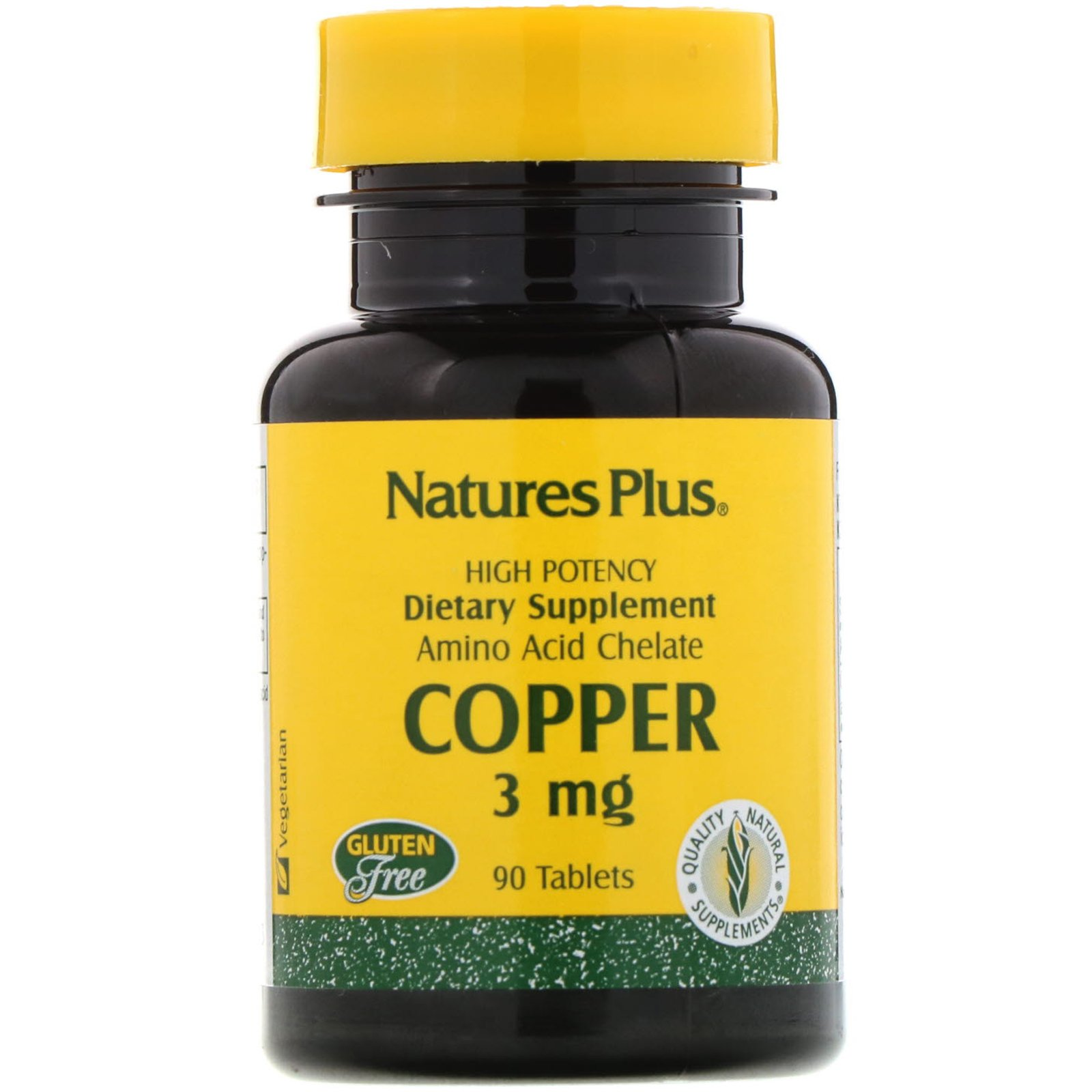 Мідь (Copper), Nature's Plus, 3 мг, 90 таблеток