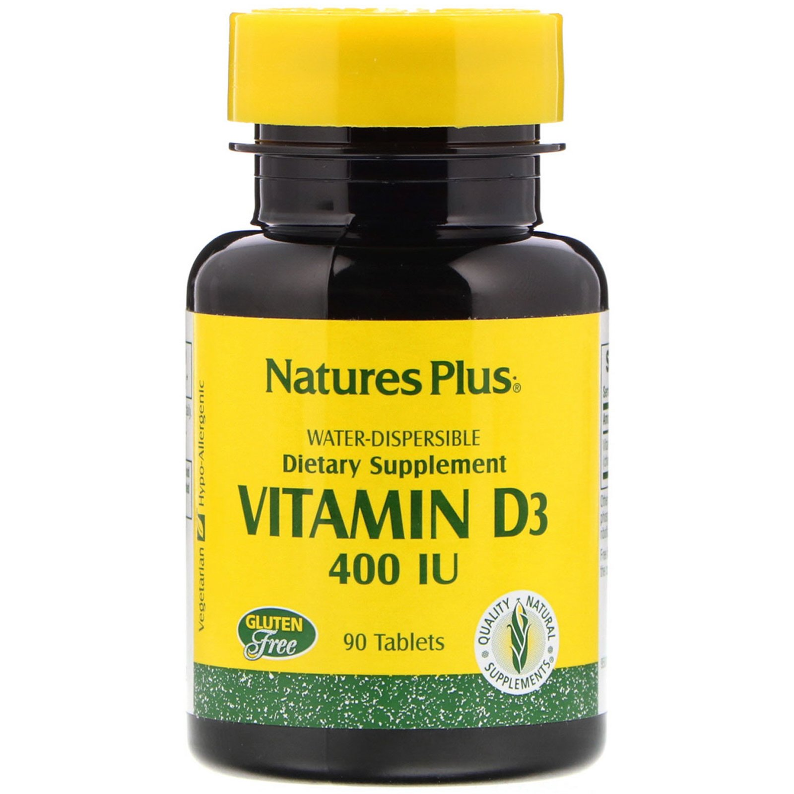 Вітамін Д, Vitamin D, Nature's Plus, 400 МО, 90 таблеток