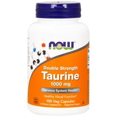 Таурин, Taurine, Now Foods, 1000 мг, 100 капсул