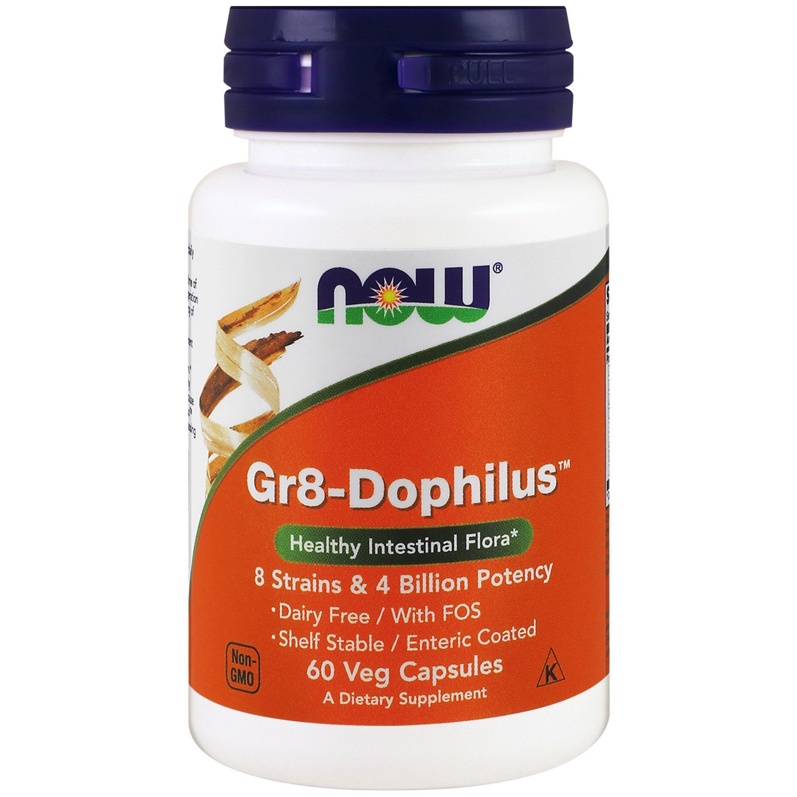 Пробіотики, Gr8-Dophilus, Now Foods, 4 млрд КУО, 60 капсул