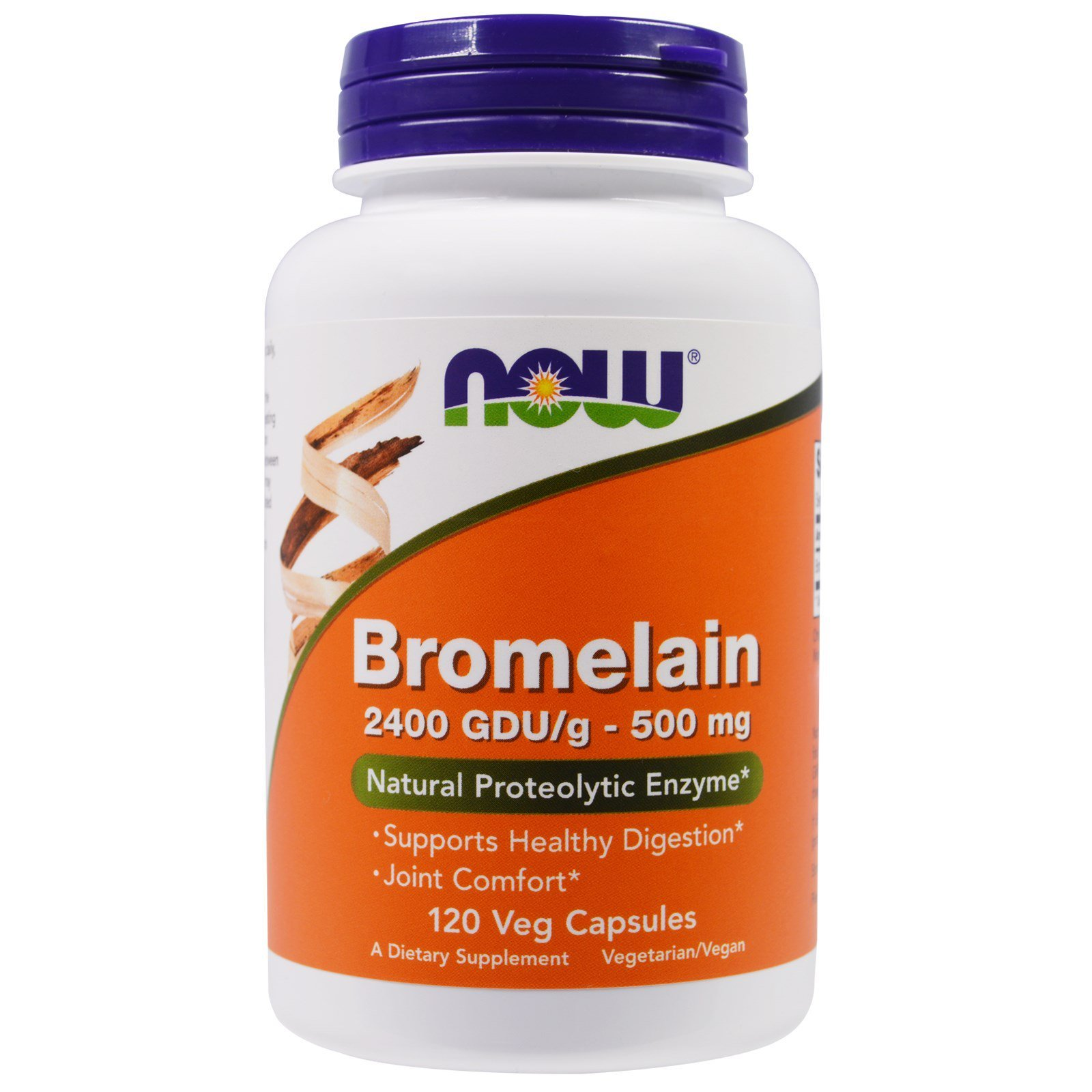 Бромелайн, Bromelain, Now Foods, 500 мг, 120 капсул