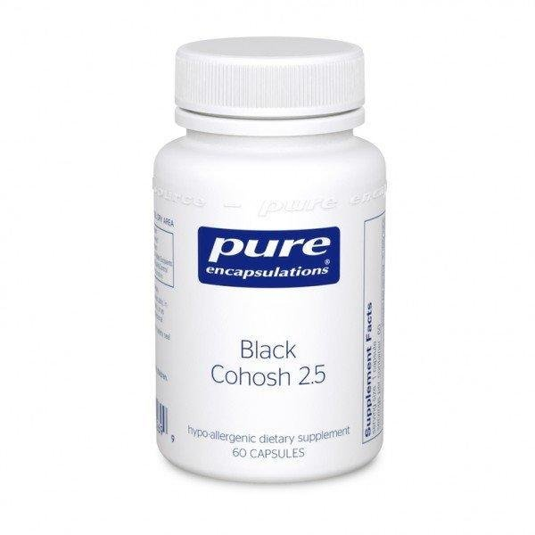 Клопогон, Black Cohosh 2.5, Pure Encapsulations, 250 мг, 120 капсул