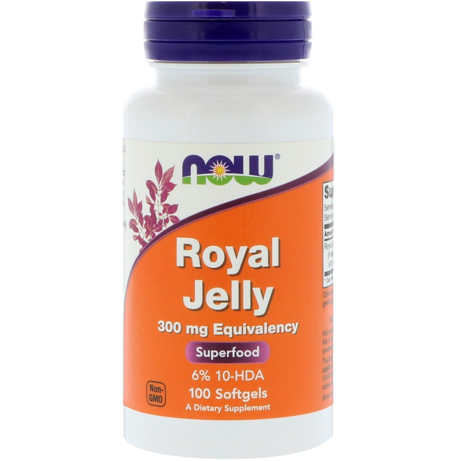 Маточне молочко, Royal Jelly, Now Foods, 100 гелевих капсул