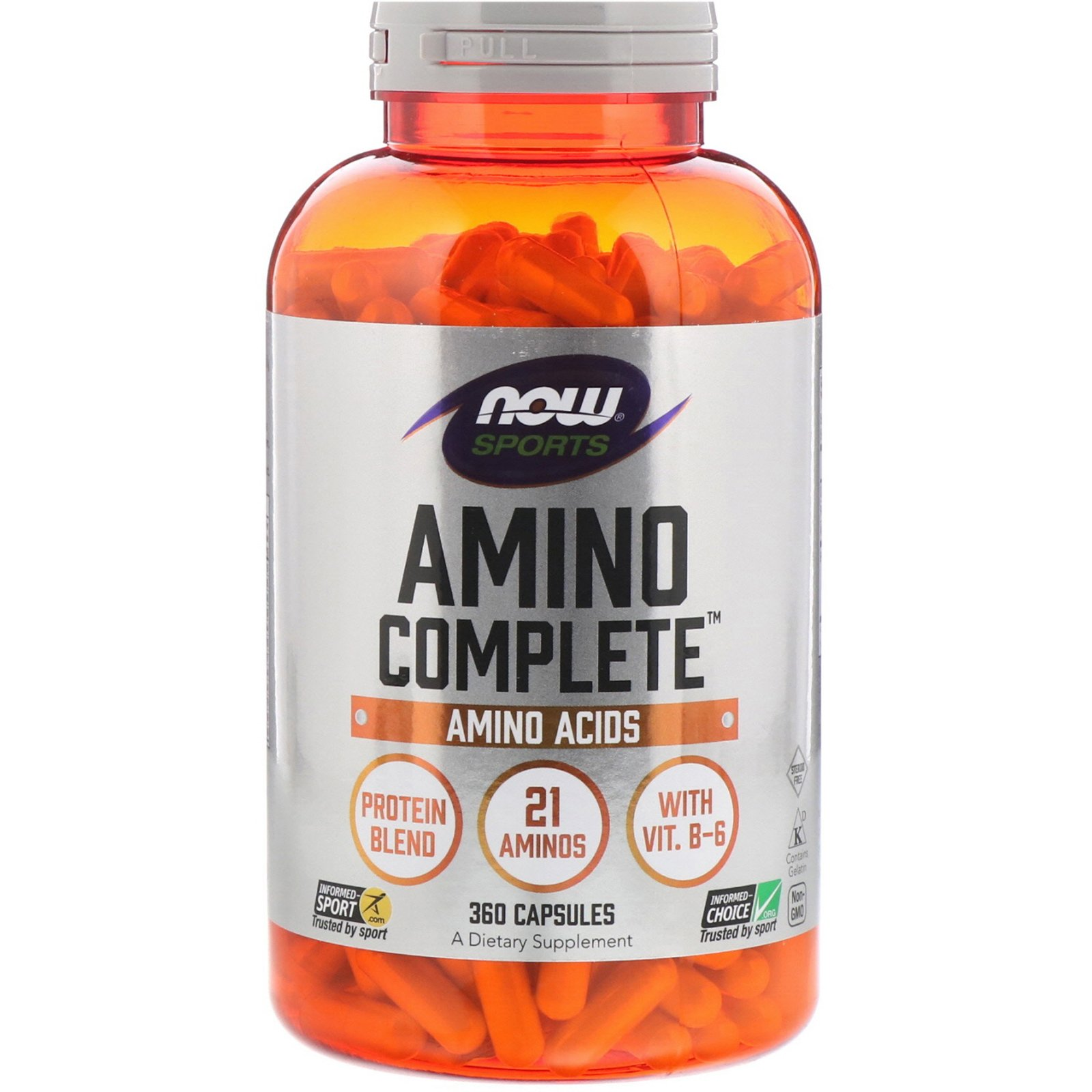 Аміно комплекс, Amino Complete, Now Foods, Sports, 360 капсул