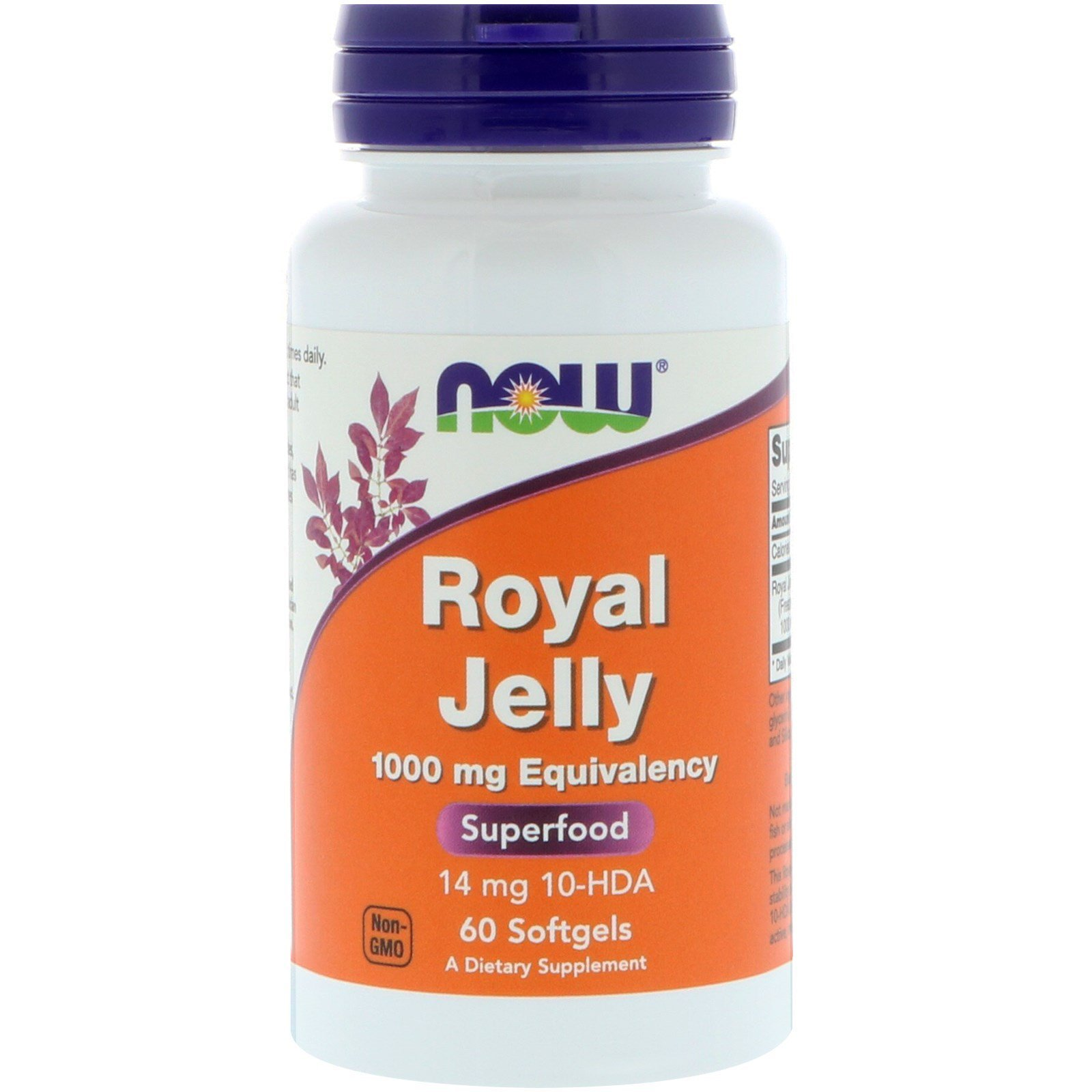Маточне молочко, Royal Jelly, Now Foods, 1000 мг, 60 гелевих капсул