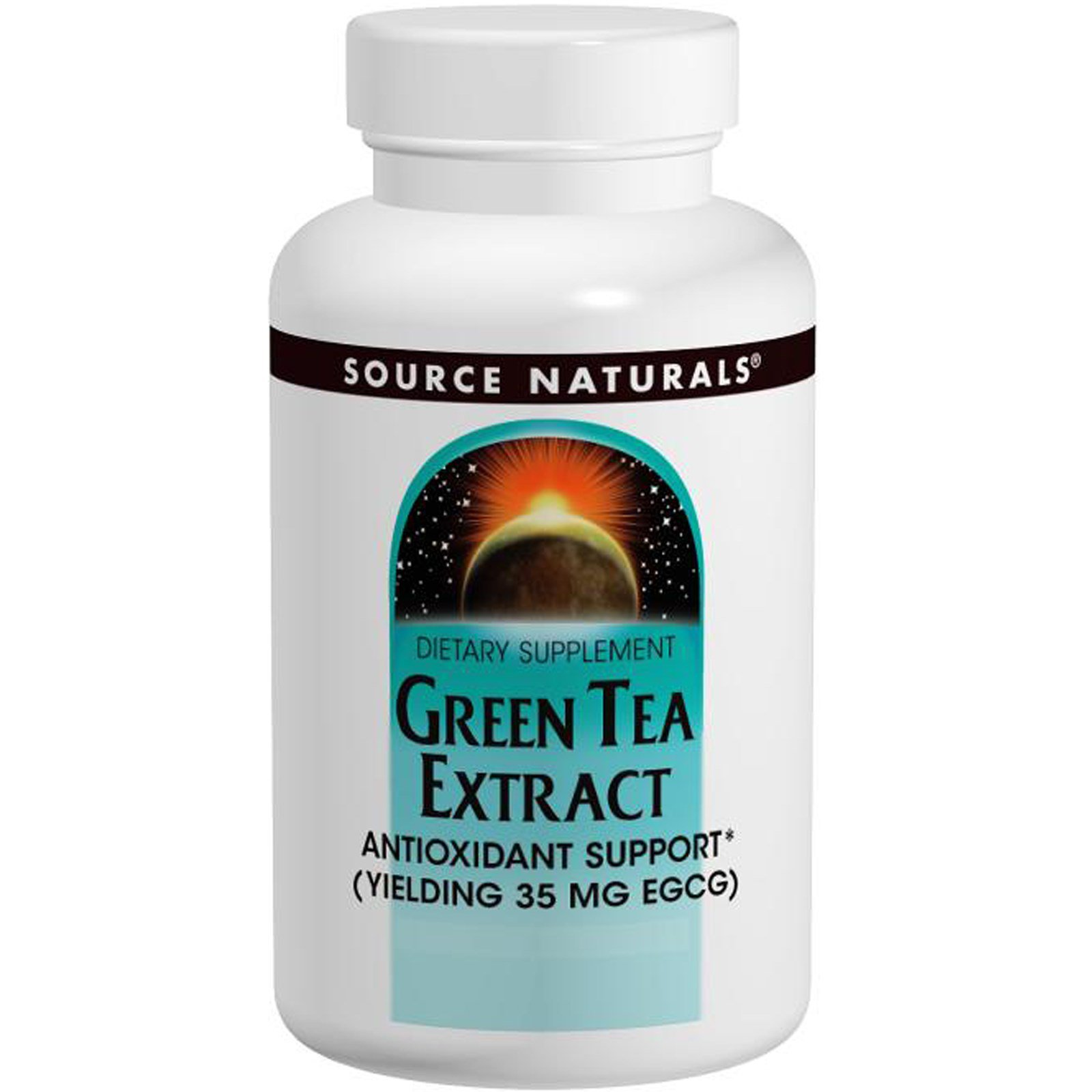 Зелений чай екстракт (Green Tea Extract), Source Naturals, 60 таблеток
