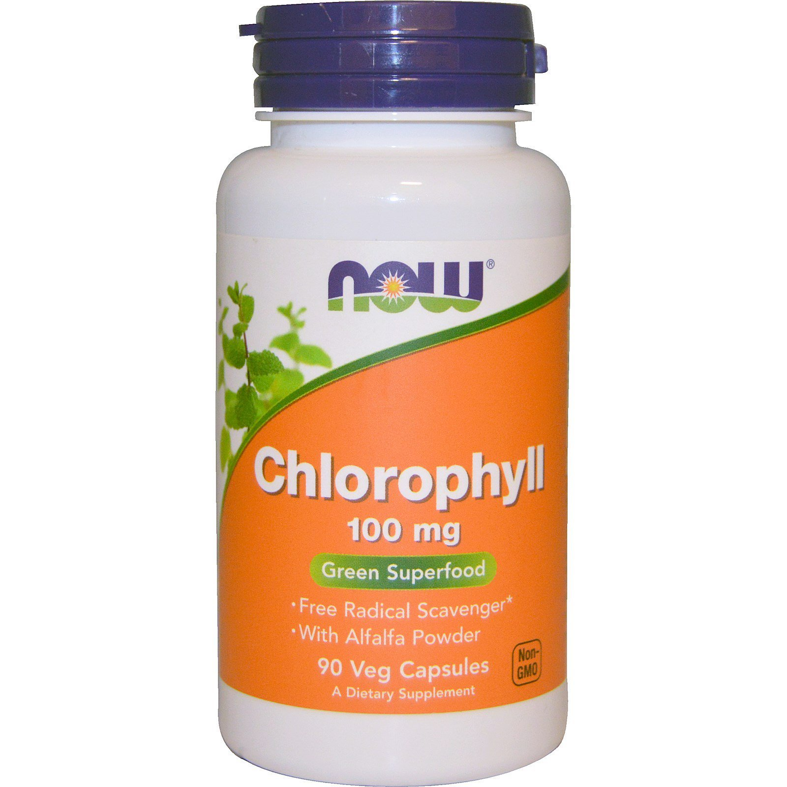 Хлорофіл, Chlorophyll, Now Foods, 100 мг, 90 капсул