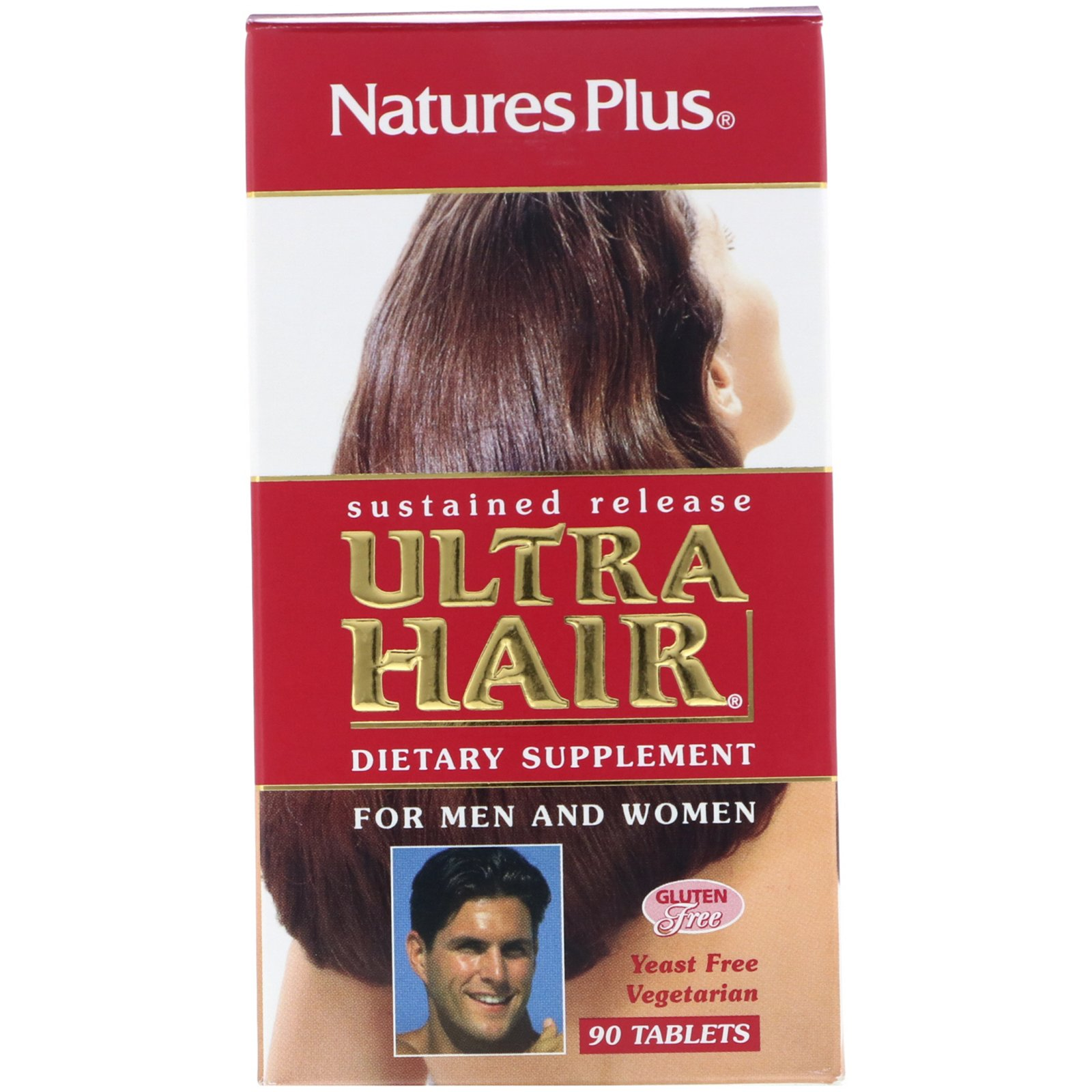 Комплекс для волос, Ultra Hair, Nature's Plus, 90 таблеток