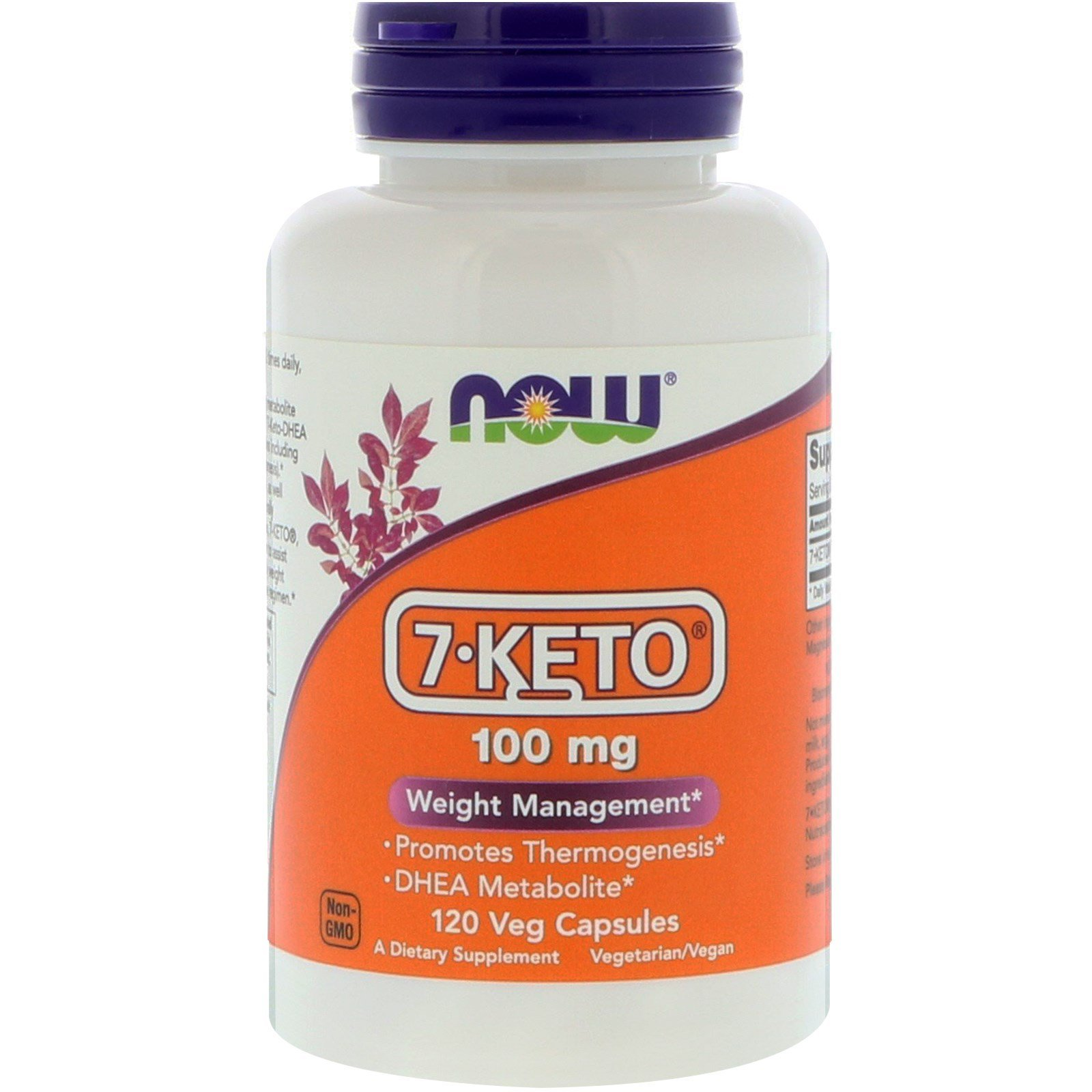 7 кето DHEA, 7-Keto, Now Foods, 100 мг, 120 капсул,