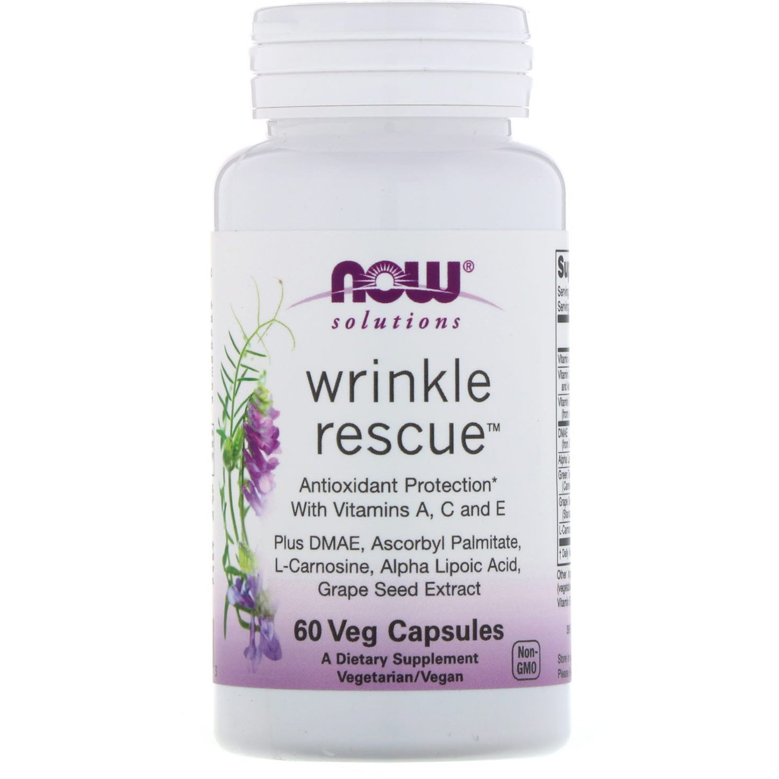 Антиоксиданти (проти зморшок), Wrinkle Rescue, Now Foods, Solutions, 60 капсул