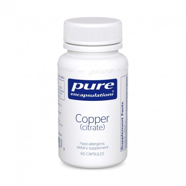 Мідь (цитрат), Copper (citrate), Pure Encapsulations, 60 капсул