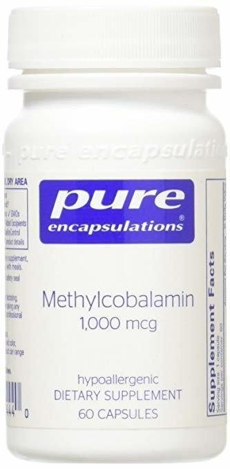 Вітамін В12 (метилкобаламін), Pure Encapsulations, Methylcobalamin Advanced Vitamin B12, 60 капсул